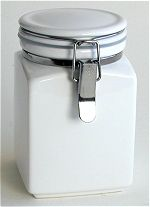 White Square Canister 16 oz